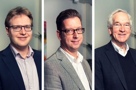 v.l.n.r. Timo Brinkman, Maarten van Lokven en Pier Vellinga