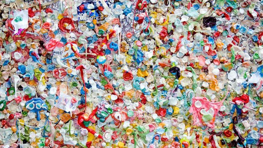Hoop wegwerpplastic